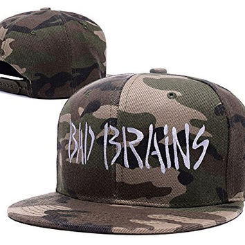 BIYJ Bad Brains Band Logo Embroidery Camouflage Cap Camo Snapback Hat