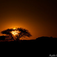 Fiery African Sunset - Nature Photography, Landscape Photography, Sunset, Fire Red