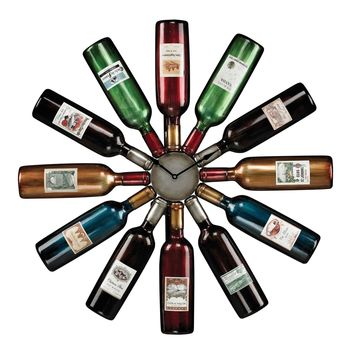 Wine Bottle Clock Hand painted metallic w/gloss