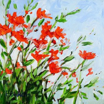 Wildflowers Impressionist Painting by Patty Baker