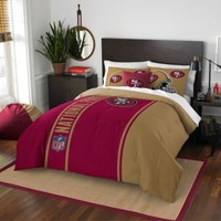 NFL San Francisco 49ers Full Embroidered Comforter Set