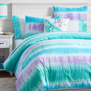 Reef Tie-Dye Duvet Cover + Sham, Cool