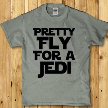 Pretty fly for a Jedi funny adult Men's t-shirt