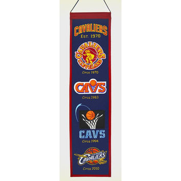 Cleveland Cavaliers NBA Heritage Banner (8x32)