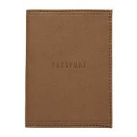 Passport Cover - Brown Leatherette