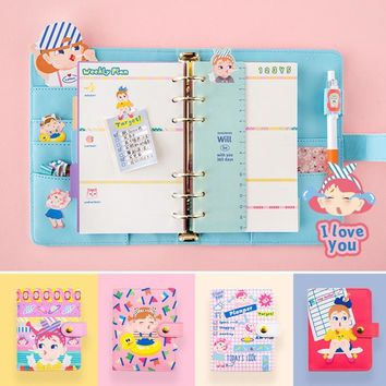 2017 Japanese Style Office Personal Time Organizer Notebook Day Weekly Monthly Plan Kawaii Agenda Planner Travel Journal A7 A6
