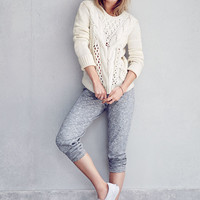 Marled Terry Pant