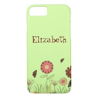 Painted retro floral summer meadow iPhone 7 case