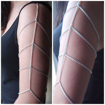 Arm Chain Bodychain Armlet Unique Rare Body by BLACKTHORNJEWELLERY