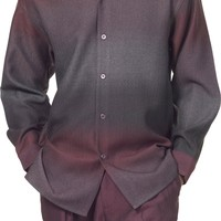 Men's Long Sleeve Designer Shirt Walking Suit By Montique 1721