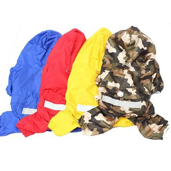 New For NEW Fashion Pet Dog Rain Coat Jacket Clothes Dogs Puppy Raincoat Waterproof 5Colors