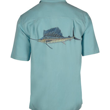 Men's Sailfish Embroidered Fishing Shirt