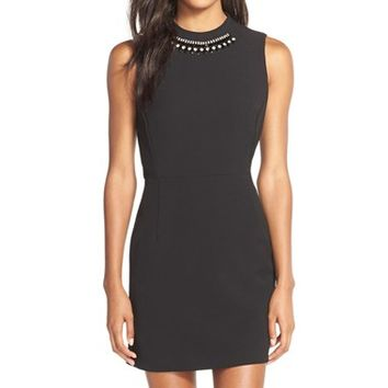 Women's French Connection 'Sundae' Embellished Woven Fit & Flare Dress,