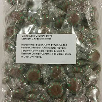 Starlight Chocolate Mints 2 Lbs Bulk Hard Candy Discs Approximately 160 Pieces