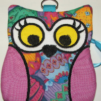 One of a Kind Zippered Owl Case for cards cash by blackbear101