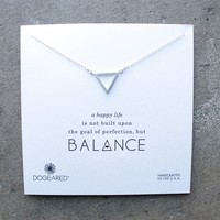 dogeared - minimalist balance open triangle necklace