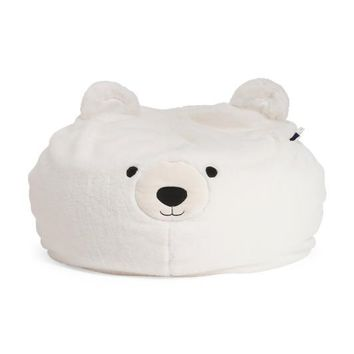 The Big White Furry Bear Chair For Kids