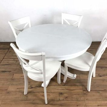 Crate & Barrel Contemporary Dining Set