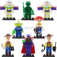 Single Sale Toy Story IV Figure Buzz Lightyear Woody Aliens Jessie Building Blocks Set Models Toys JR1712