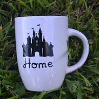 Disney Home Mug, Disney Mug, Disney Side Mug, Disney Vacation, Disney Trip, Disney Gift, Disney Castle Mug, Princess Mug, Home is Where