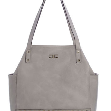 Verona-Shopper Handbag-Mist Grey