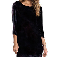 Gypsy 05 Velvet Long Sleeve Peephole Dress in Purple