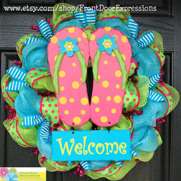Flipflop summer fun by FrontDoorExpressions on Etsy