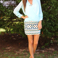 Busy Blues Skirt, blue