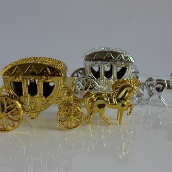 pcs  Silver  fairy  carriage  Wedding  candy  lembranc