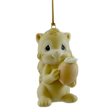Precious Moments I'M JUST NUTTY ABOUT THE HOLIDAYS Porcelain Ornament 455776