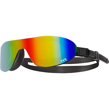 Tyr - Swim Shades Black Swim Goggles / Mirrored Rainbow Lenses