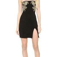 DSQUARED2 Strapless Embroidered Dress