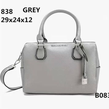 MICHAEL KORS Lash package Woman shopping Handbag leather one shoulder bag B-LLBPFSH Grey