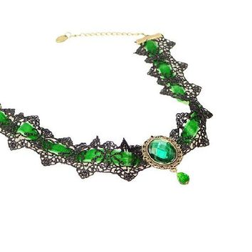 Vintage Lace Hollow Rhinestone Collar Choker Necklace