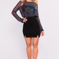 Carnevino Mini Skirt - Black