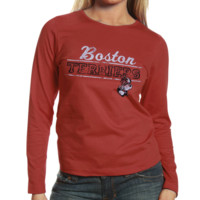 Boston University Ladies Uprising Long Sleeve T-Shirt - Cardinal