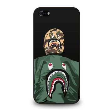 BLAISE TRAVIS HOODIE BAPE SHARK iPhone 5 / 5S / SE Case Cover