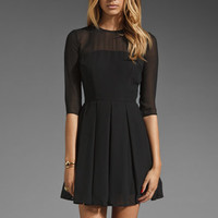 BB Dakota Rylan Sheer Shell Pleated Dress in Black from REVOLVEclothing.com