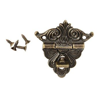 Small Box Buckle Clasp Antique Buckle Alloy Buckle Box  Wooden Wine Box Lock