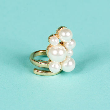 The Pearl Girl Midi Ring