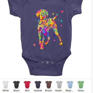 Hungarian Vizsla dog Baby Onesuit baby Bodysuit Infant Baby Rib Short Sleeve One-Piece Printing American Apparel vizsla Onesuit baby clothing