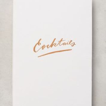 Moglea Cocktail Recipe Binder in White Size: One Size Gifts