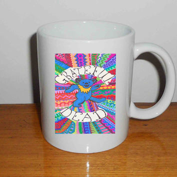 "The Grateful Dead Dancing Bear Tie Dye - Mug, Quote Mug, Beyonce Mug, Ceramic Mug, typography, Beyonce Quote, Cup Mug ""NP"""
