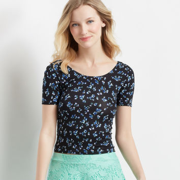 Ditsy Floral Bodycon Crop Top
