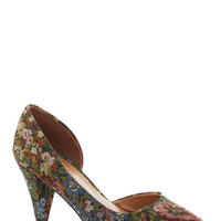 ModCloth Treasure Stroll Heel in Floral