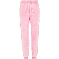 River Island Girls pink heart joggers