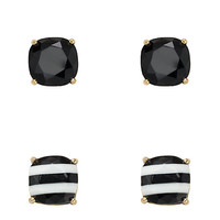 Kate Spade Kate Spade Small Square Studs 2 Pack Black Multi ONE