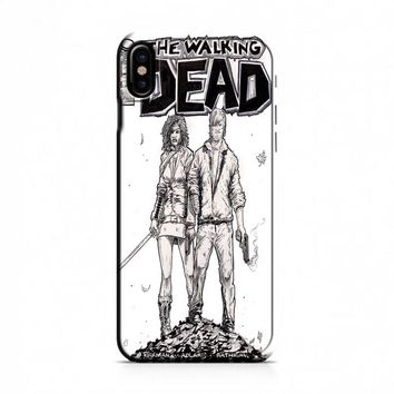 Walking Dead (michonne comics bw) iPhone X Case