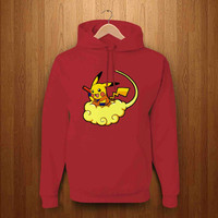 pokemon dragons pikachu dragon ball deep red hoodie pickcustom