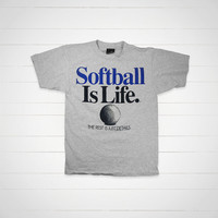 90s Vintage Softball T-Shirt / 1993 Softball vintage tee by Big Ball Sports  / Made in USA